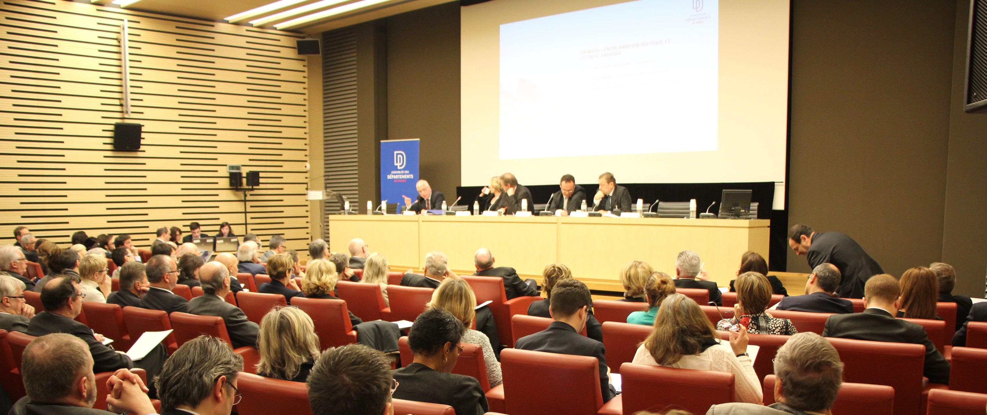 Colloque du 27 avril: «Les Départements à l'heure de la réforme territoriale», un grand succès !