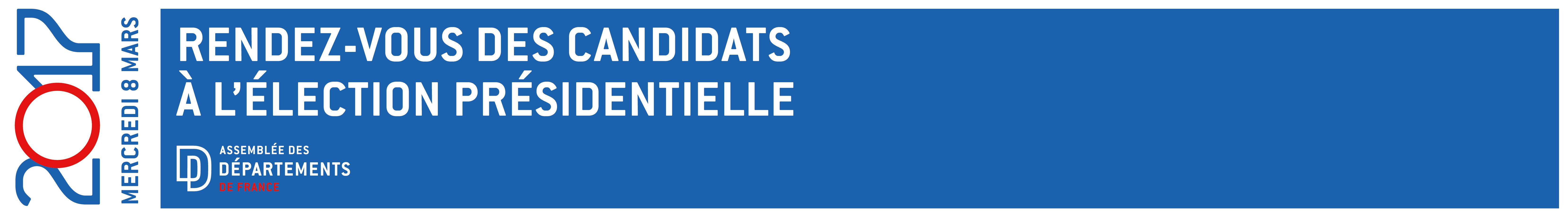 Élection présidentielle : L'ADF donne rdv aux candidats le 8 mars 2017