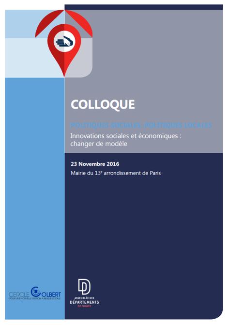 Actes du Colloque Politiques sociales du 23/11/16
