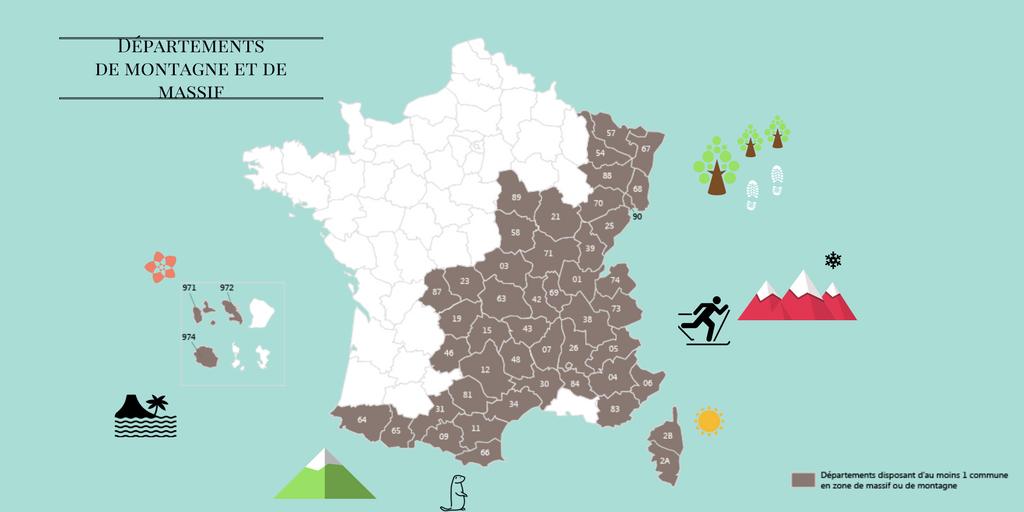 Départements de montagne et de massif (1)