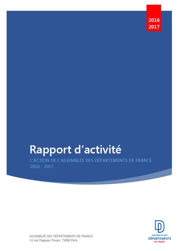 Rapport d'activité ADF 2016-17