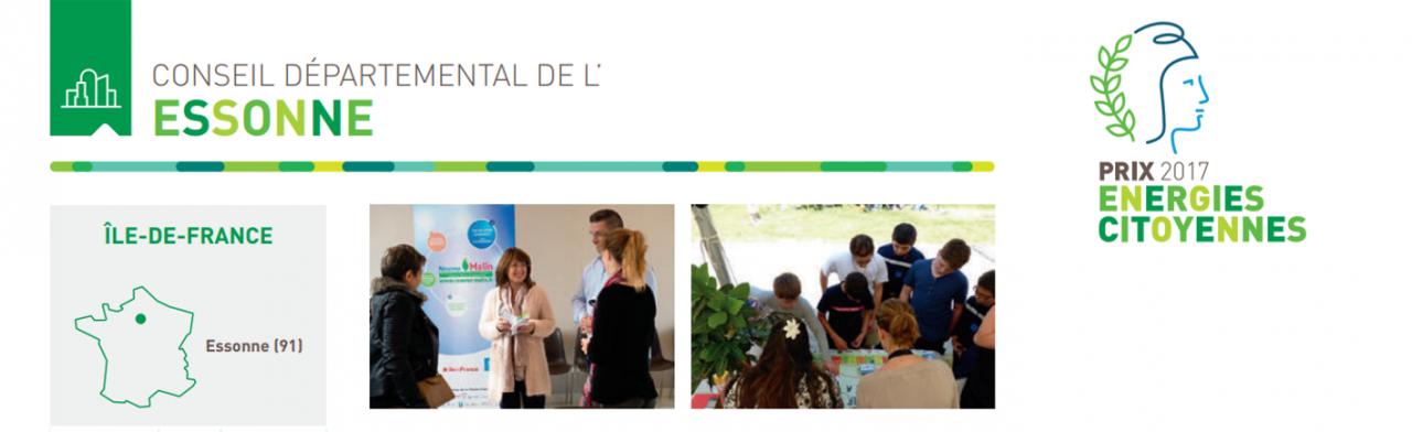 L'Essonne remporte le Prix Énergies Citoyennes 2017