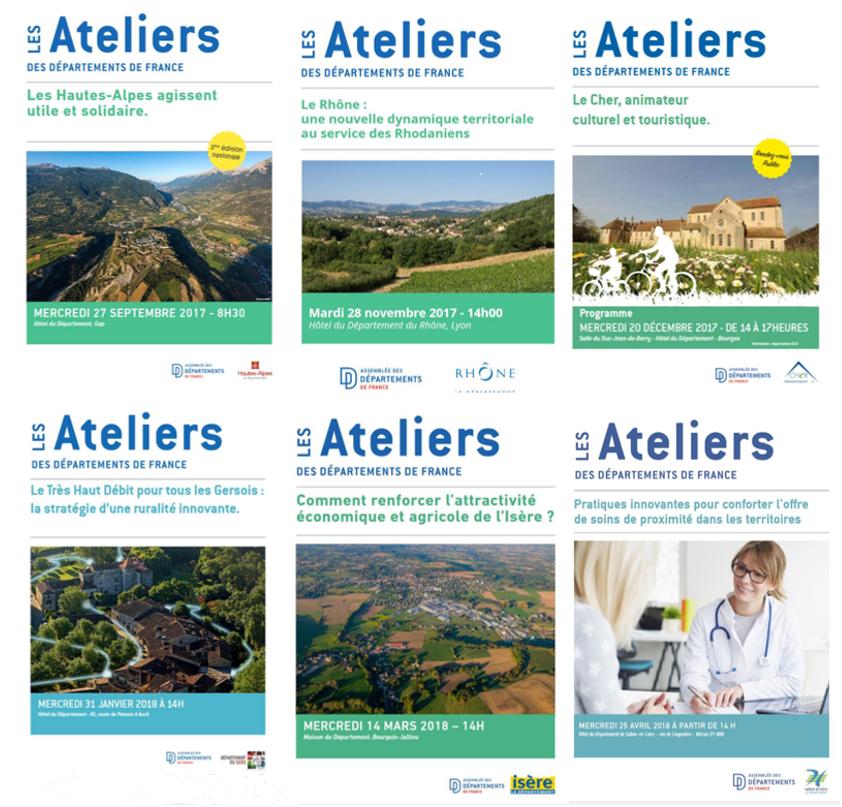 Restitution des Ateliers des Départements de France (septembre 2017 – avril 2018)