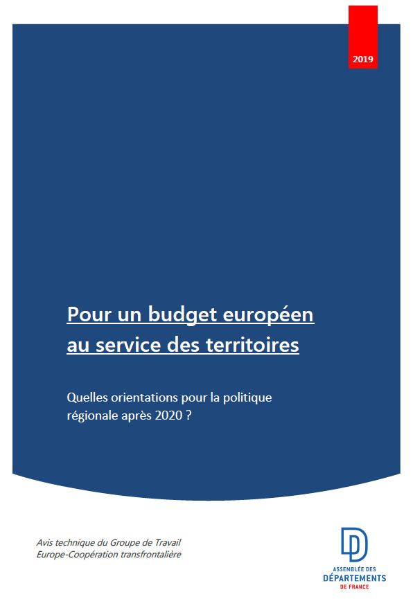 Pour un budget européen au service des territoires : quelles orientations pour la politique régionale après 2020 ?