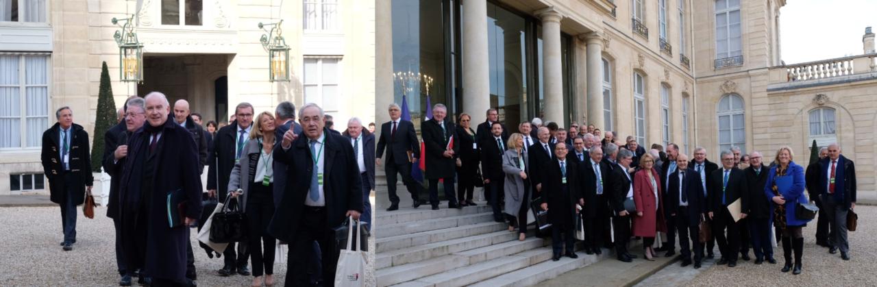 Rencontre entre les Présidents des Départements de France et le Président de la République à l'Elysée