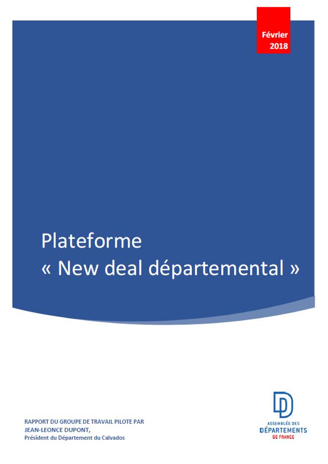 Plateforme « New deal départemental »