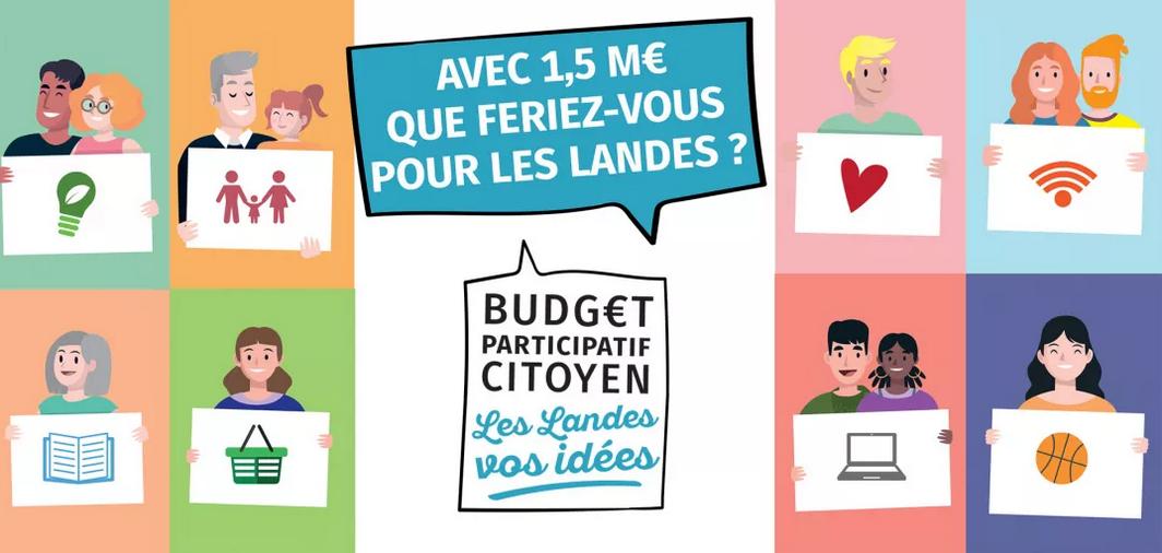 Budget participatif : « Les Landes, vos idées »