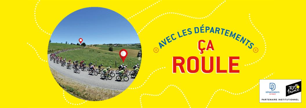 Le Tour de France 2019 avec les Départements, ça roule !