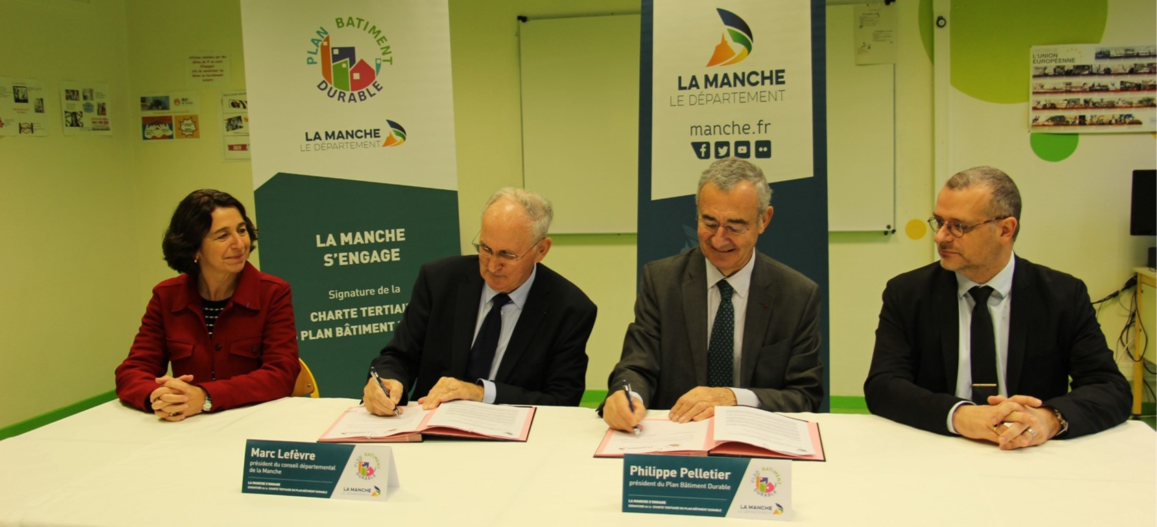 Charte « Plan Bâtiment Durable » : La Manche, premier Département rural à renforcer son engagement en matière de rénovation énergétique des bâtiments tertiaires