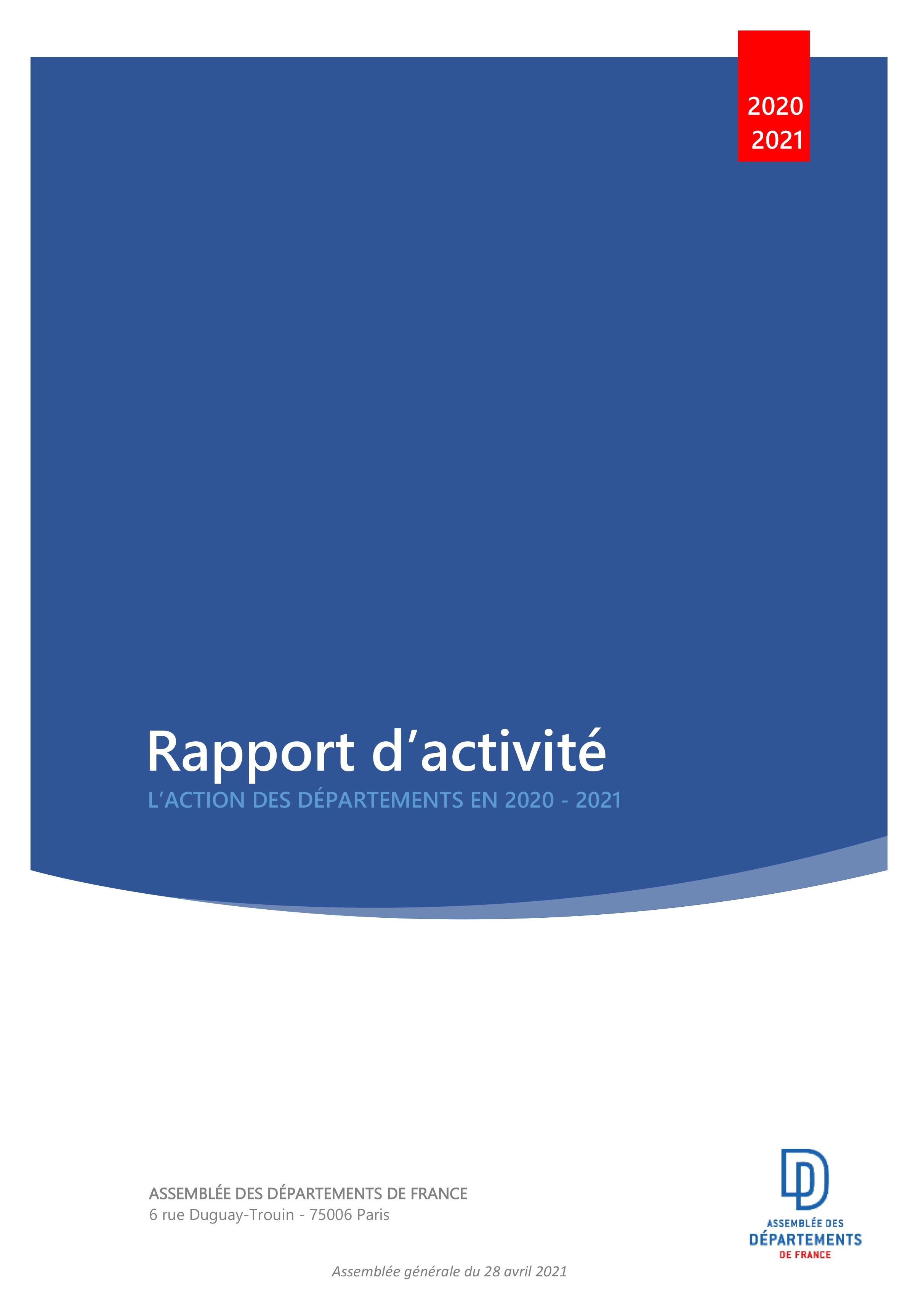 Rapport d'activité ADF 2020-2021